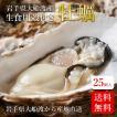 牡蠣 かき カキ 殻付き生牡蠣 岩手県産 25個 冷凍 ギフト 産地直送 鍋 バーベキュー