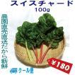 千葉県産 スイスチャード クール便 生イタリア野菜 鮮度保持フィルム包装 100g 税込 定額送料 トレファームの砂栽培育ちで元気な野菜です!