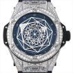 48回払いまで無金利 ウブロ ビッグバン ウニコ サンブルー チタニウムブルーパヴェ 415.NX.7179.VR.1704.MXM18 新品 メンズ 腕時計