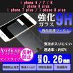 iPhone 強化ガラス アンチグレア 反射防止  保護フィルム iPhone8 iPhone7 iPhone6 plus 対応 硬度9H 極薄 0.26mm  ゆうパケット送料無料
