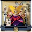五月人形 久月 兜ケース 家紋付12号大鍬形兜 アクリルケ−ス飾 (オルゴール付)ケース飾