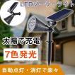 イルミネーション ソーラーライト 室内 3W  7色発光 センサーライト ミックス ガーデンライト 充電式 庭園灯 屋外 照明 ソーラー投光器 TY-3W