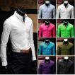 シャツ メンズ 長袖 ワイシャツ Yシャツ 春 夏 長袖シャツ トップス カジュアルシャツ コットン ビジネス フォーマル シンプル おしゃれ キレイめ 無地