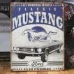ブリキ看板 アメ車 フォード マスタング インテリア メタルサインプレート アメリカン雑貨