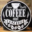 ダイカットエンボスプレート COFFEE インテリア カフェ ブリキ看板
