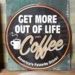 ダイカットスティールサイン看板 COFFEE インテリア カフェ ブリキ看板