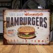 ブリキ看板 ハンバーガー アメリカン雑貨