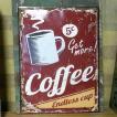 アンティークエンボスプレート Coffee ブリキ看板
