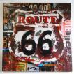 ルート66 エンボス ブリキ看板 ROUTE66 Art Sign