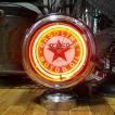 置き時計 TEXACO ネオンクロック テキサコ アメリカン雑貨 ガレージインテリア
