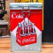 コカコーラ スクエアキャニスター缶 6Bottle アメリカン雑貨