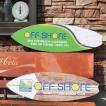 サーフボード オフショア ウッデンサインボード ハワイアン インテリア 木製看板