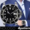 NOLOGO ノーロゴ サブマリーナ NL000S 電池式クォーツ 腕時計 メンズ