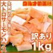 (訳あり わけあり ワケあり)サーモン 大トロ ハラス 切り落とし 1kg(生食用スライス 500g×2 アトランティックサーモン)