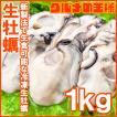 生牡蠣 1kg 生食用カキ(Lサイズ 冷凍時1kg 解凍後850...