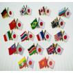 [送料299円〜]「tc50」日本と各国の友好旗ピンズ D-400・D-804・D-805・D-806 40点迄メール便OK(da1a012)