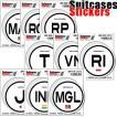 [送料299円〜]「tc150」「pa」Suitcases Sticker(スーツケースステッカー) 国際識別記号ステッカー アジア IDP 100点迄メール便OK(ze0a007)