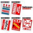 [送料299円〜]「tc150」「pa」Suitcases Sticker(スーツケースステッカー)FRAGILE(フラジール)荷造りステッカー大 SK(ze0a014)一部色選択不可 100点迄メール便OK