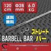 GronG バーベルシャフト ストレートバー ウェイトトレーニング 120cm 径28mm