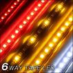 6Way コンビネーションLEDテープ 6役 キャンセラー内蔵 正面 赤橙白 1本 124cm