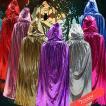ハロウィン コスプレ コスチューム ウィッチ 魔女 セット 肩掛け ストール マント ケープ クローク フェアリー マジシャン 海賊 帽子 ピンク