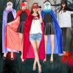 ハロウィン コスプレ コスチューム 衣装 仮装 大人用 ウィッチ 魔女 セット 肩掛け ストール マント ケープ クローク フェアリー マジシャン