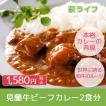 【みどりや】萩産「見蘭牛」入り贅沢ビーフカレー 2食分 おうちで贅沢ご飯 時短料理 簡単料理 簡単ランチ ポイント消化