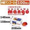 (マンゴーの箱)沖縄マンゴー2ヶ箱/100枚入(L-2298)