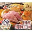 鶏胸正肉 2kg 国産 業務用・大家族用にびったり 冷凍