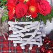フラワーベース 花瓶 ガラス クリスマス ホワイトウッドフラワーベース