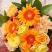 お祝い用花束(ガーベラ)。送料・手数料無料。メッセージカード付。
