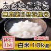 【新米予約】 白米 令和3年産新米 秋田県産 あきたこまち 無農薬自然乾燥米 10kg 農家直送