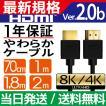 HDMIケーブル 2m 1m Ver.2.0b フルハイビジョン HDMI ...