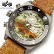 腕時計 メンズ クロノグラフ 腕時計 ALPHA INDUSTRIES AL-502M-02