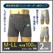 尿漏れ 吸水 失禁 対策パンツ ボーダートランクス しっかり安心タイプ100cc 2枚組
