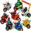 レゴブロック ニンジャゴー 忍者とバイク各8台 互換 ...