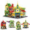 ブロック互換 レゴ 互換品 レゴミニモジュール式ディスショップ 他4個セットA レゴブロック LEGO クリスマス プレゼント