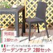 ガーデンチェア 2脚セット ガーデン カフェ