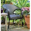 ガーデンチェア 椅子 Chair 手編み高級人工ラタン ウィッカー ガーデンファニチャー 11DN-C 2脚以上送料無料