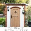 物置 おしゃれ 屋外 ガーデン 収納庫 カンナキュート オレンジ 南欧プロバンス風のアンティーク 調木目 ドア付き レンガ調
