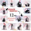[送料無料]【単品】ネコにゃんのおしゃれ小部屋 ブックマーカー 透かし 彫り 金属 しおり パーツ 文庫 黒猫クロネコ雑貨 キャット ステンレス製 読書
