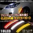 LEDフェンダーサイドマーカー 左右2個セット MINI クーパー US風 18灯 外装 ドレスアップ アクセサリー