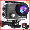 アクションカメラ Crosstour 4K高画質 リモコン付 WiFi搭載 水深30m撮影 手ブレ補正 防水防塵 耐衝撃 170度広角 SONY製CMOSセンサー 大容量バッテリー2個 CT8500