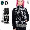 廃盤 オカルトパンク 魔法アイテム&ネコ柄ロングマフラー ファッション ユニセックス/rfo308
