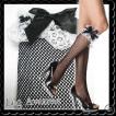 LEG AVENUE ドールキュート フィッシュネット 黒 網タイツ ハイストッキング リボン クリックポスト送料無料 / wosx053