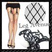 ラスト1枚 leg avenue ストッキング ダイヤモンド型 ネット 黒 網 オーバーニー クリックポスト送料無料/wosx057