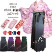 卒業式袴セット 女性レディース二尺袖着物ぼかし刺繍袴セット/5サイズ4色