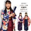 袴セット 小学生 女の子 ジュニア 卒業式 袴 セット 二尺袖 着物 刺繍 はかま 3点 フルセット 半巾帯 付 販売 購入 140cm 150cm