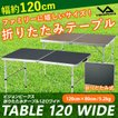 ビジョンピークス VISIONPEAKS アウトドアテーブル 大型テーブル 折りたたみ アルミテーブル 120 ワイド VP160401D01 アウトドア キャンプ テーブル