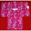 子供浴衣 うさぎ赤紫100 3.4才用 送料無料